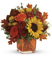 Teleflora's Hello Autumn Bouquet from Bakanas Florist & Gifts, flower shop in Marlton, NJ