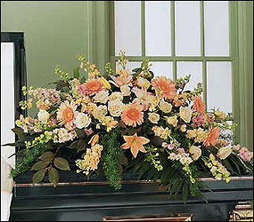 Peach Comfort Half-Couch from Bakanas Florist & Gifts, flower shop in Marlton, NJ