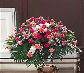 Delicate Pink Casket Spray from Bakanas Florist & Gifts, flower shop in Marlton, NJ