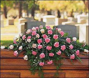 Heavenly Pink Casket Spray from Bakanas Florist & Gifts, flower shop in Marlton, NJ