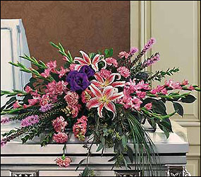 Triumphant Casket Spray from Bakanas Florist & Gifts, flower shop in Marlton, NJ