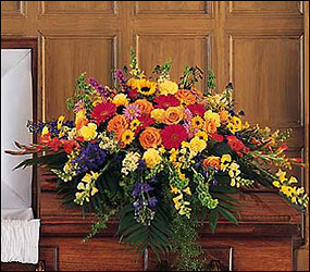 Celebration of Life Casket Spray from Bakanas Florist & Gifts, flower shop in Marlton, NJ