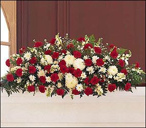Hope and Honor Casket Spray from Bakanas Florist & Gifts, flower shop in Marlton, NJ
