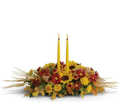 Traditional Thanksgiving Centerpiece from Bakanas Florist & Gifts, flower shop in Marlton, NJ