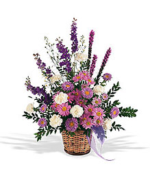 Lavender Reminder Basket from Bakanas Florist & Gifts, flower shop in Marlton, NJ