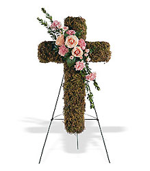 Pink Bouquet Cross from Bakanas Florist & Gifts, flower shop in Marlton, NJ