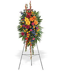 Celebration of Life Standing Spray from Bakanas Florist & Gifts, flower shop in Marlton, NJ