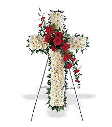 Hope and Honor Cross from Bakanas Florist & Gifts, flower shop in Marlton, NJ