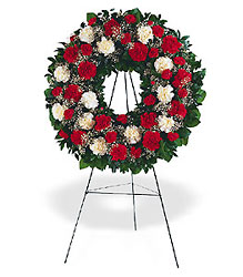 Hope and Honor Wreath from Bakanas Florist & Gifts, flower shop in Marlton, NJ