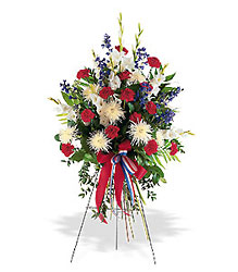 Patriotic Spirit Spray from Bakanas Florist & Gifts, flower shop in Marlton, NJ